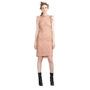 Zara Women Guipure Lace Tube Dress Blush Pink